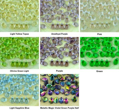 60pcs Crystal PIP PRECIOSA Flower Flat Petal Czech Glass Beads 5mm x 7mm
