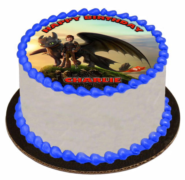 EDIBLE CAKE TOPPER Image Icing Sheet - How To Train Your Dragon HTTYD Toothless