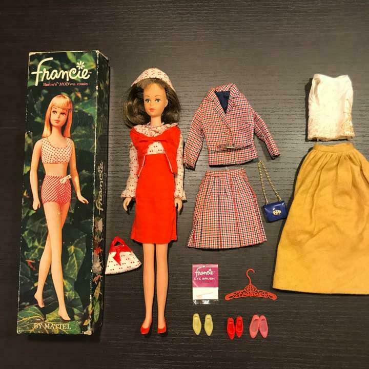 Francie barbie moderno primo Mattel 1965 Vintage Muñeca Hecha en Japón