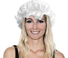 BONNET de Nuit Charlotte Blanc Déguisement Femme Costume Paysanne Servante