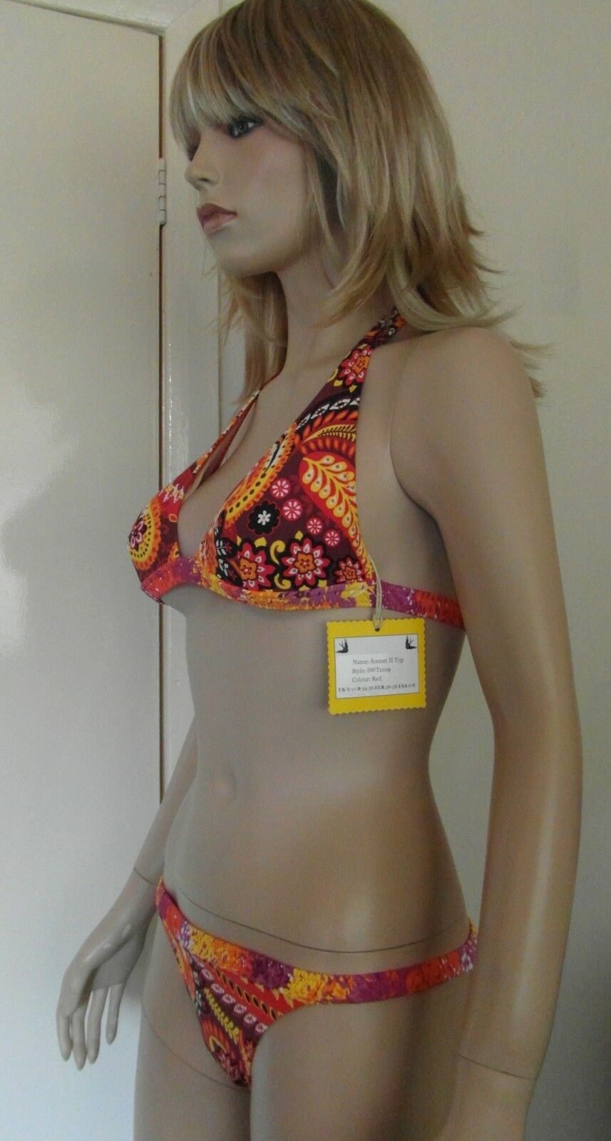 Paolita Designer Bikini Set Printed Top & Briefs Ideal Present   BNWT - RRP