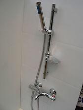 THERMOSTATIC WALL MOUNTED BATH SHOWER MIXER TAPS, HANDHELD & RAIL SET, 331/104