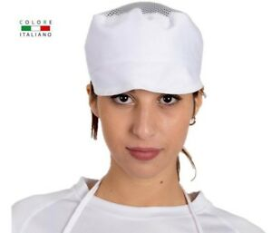 berretto cappello con visiera e elastico alimentari colore italiano ... 8c457d6a092b