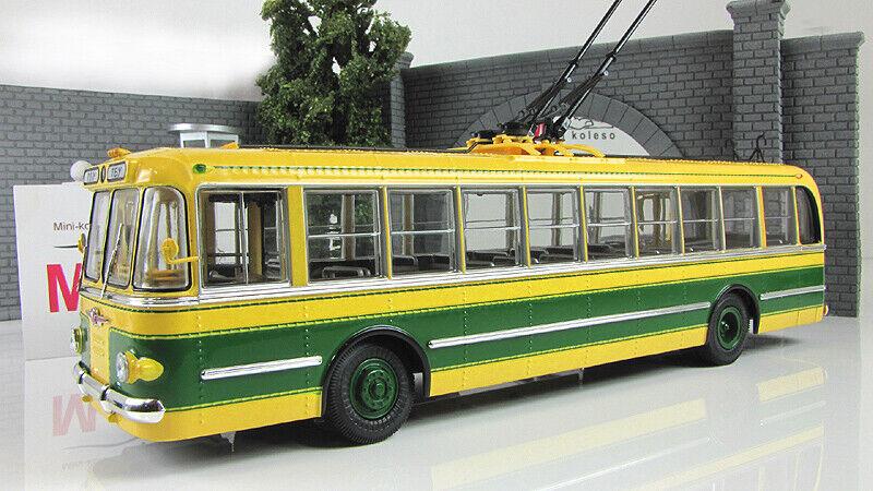 Modèle à l'échelle 1 43 trolleybus TBU-1 Jaune Vert  1955  acheter pas cher