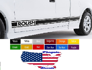 ROUSH-Stripe-Running-Board-Decals-Pair-2-3-5-034-x-65-Pick-Color-fREE-sHIP