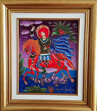 Yuri Gorbachev Original Painting ,,ST.GORG,,Oil on canvas,gold,with C.O.A.