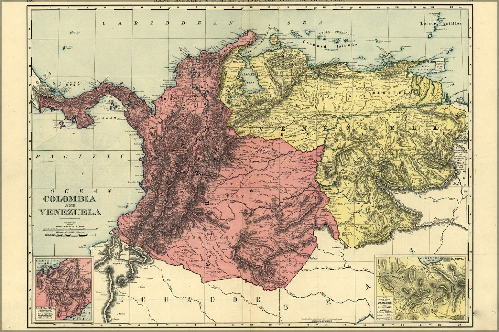 Poster, Many Größes; Map Of Colombia And Venezuela 1898