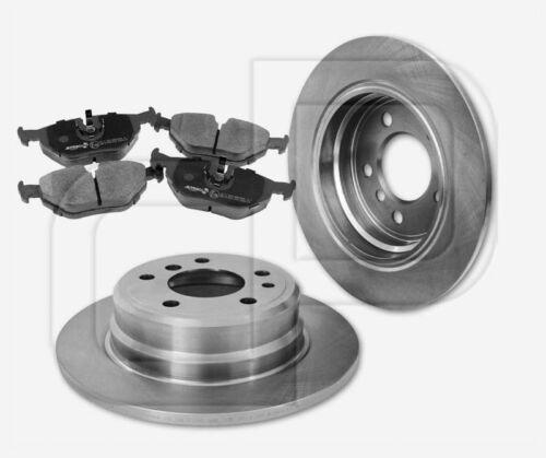 2 Disques de frein 4 plaquettes de freins BMW 7er e32 730 II 735 I//II ARRIÈRE 300 mm plein
