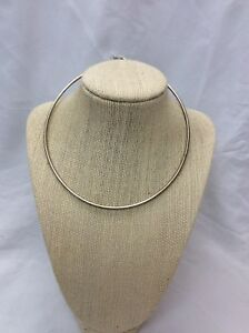 Beautiful-Sterling-silver-925-collar-Hook-On-necklace