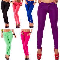 Luxus Damen Jeans Sexy Röhrenjeans Tiefsitzend Jeggings in 6 Farben Gr. XS/S/M/L