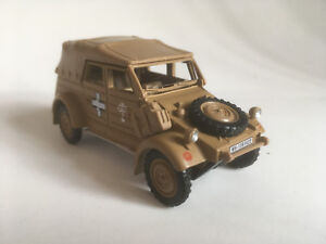 VW-Kubel-Type-82-geschl-1941-Africa-Korps-Cararama-Auto-Modell-1-43-4-90750