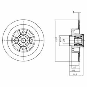 Disque de frein 2 pièces DELPHI bg9028rs