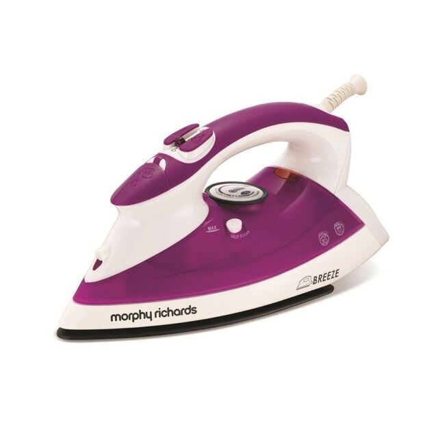 Morphy Richards 300202 Breeze Steam Iron White And Plum
