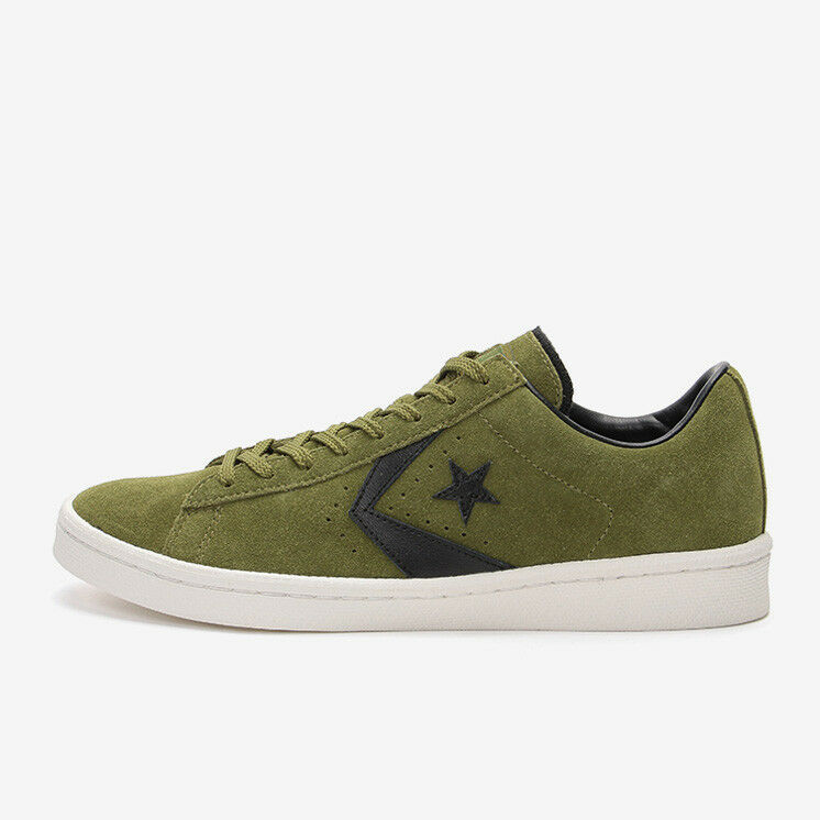CONVERSE CHEVRON & STAR PRO-LEATHER SUEDE OX Olive/Black Japan Exclusive
