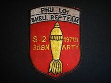 Vietnam War Patch S-2 3rd Bn 197th Artillery Rgt 1st Inf. PHU LOI SHELL REP TEAM