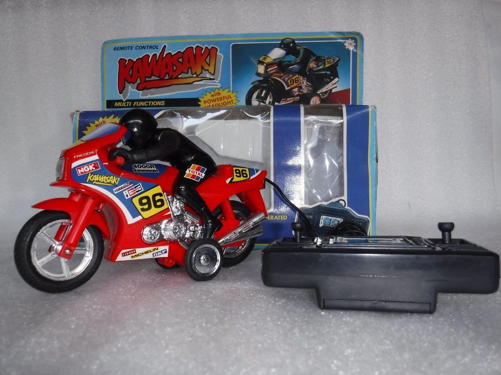 Rare  Vintage R C Kawasaki 4000R Racing Motorcycle bike Toy in Original Box