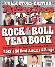 ROLLING STONE MAGAZINE ~ ROCK & ROLL YEARBOOK ~ 2012 BEST SONGS / ALBUMS