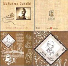 Gandhi, INDIA 2011 , Made of Khadi Cloth in Presentation Pack,