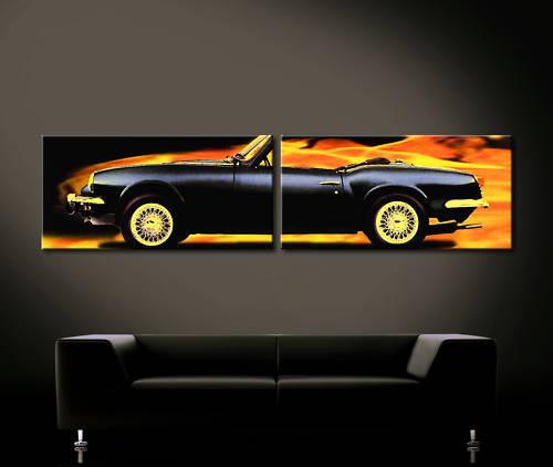 Pop Art Triumph Spitfire Cuadro Lienzo Parouge noir Arte Decoración