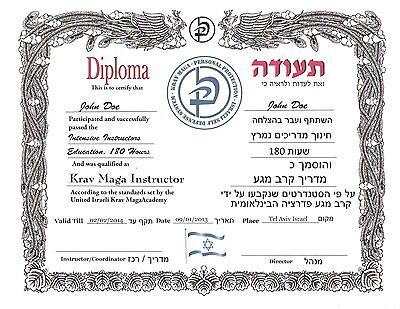 Judo Custom certificate 11x14