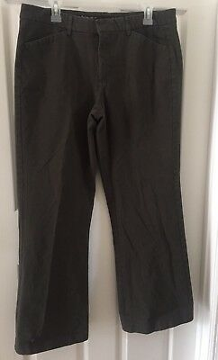 "Women's Clothing Lower Price with Lee One True Fit Pants Cotton Chino Slacks Size 13/14m Green Khaki 30"" Inseam"