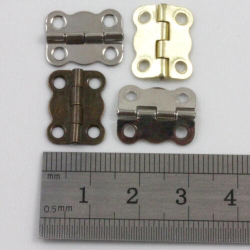 10 CERNIERE placcato in miniatura Hardware 13 x 16mm Small Jewellery & le scatole di sigari