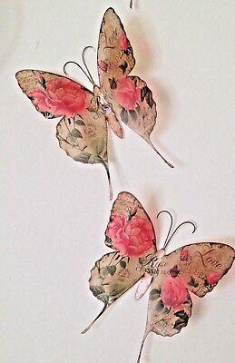 "Shabby Chic Hummingbird Butterflies Floral Cushion Cover 14/"" 16/"" 18/"" 20/"""