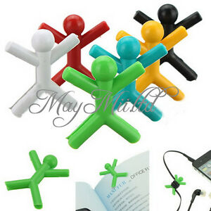 6pcs-Colorful-Man-Paper-Bookmark-Clip-Drink-Book-Reading-Office-Stationery-O