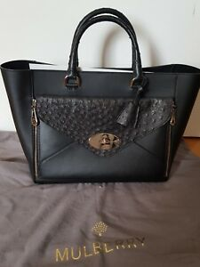 Exotic Large Bag Willow Black Mulberry 500 Tote Bnwt Ostrich Rrp Leather £2 xO6Pwnwq