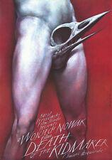 Original Vintage Poster Polish Death of the Kidmaker Surreal Scary Skull Film