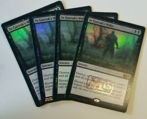 4 PROMO PLAYED FOIL Mondronen Shaman Red Launch Parties Mtg Magic Rare 4x x4