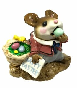 """Wee Forest Folk WFF M-160 """"Mousey's Easter Basket"""" - Retired 1982 With Box"""