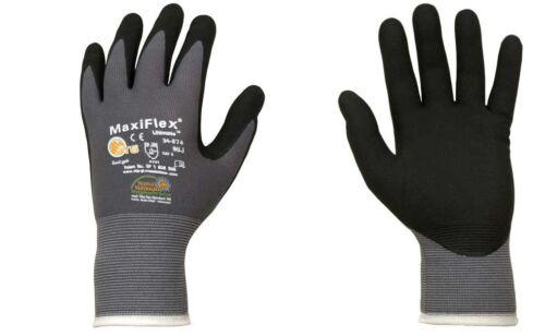 12 Paar ATG-Maxi-Flex Ultimate Profi Montagehandschuhe,Größe 10 schwarz//grau