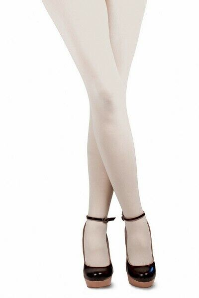 Quality White 1960's Tights - Nylon - Adult Sizes up to size 22