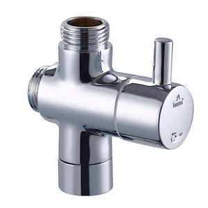 brass g1 2 t adapter shut off valve diverter for bath shower toilet bidet ebay. Black Bedroom Furniture Sets. Home Design Ideas