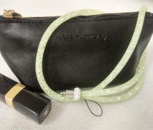 Popular Rhinestone Bling Crystal Neck Lanyard Strap ID Badge Cell Phone Holder