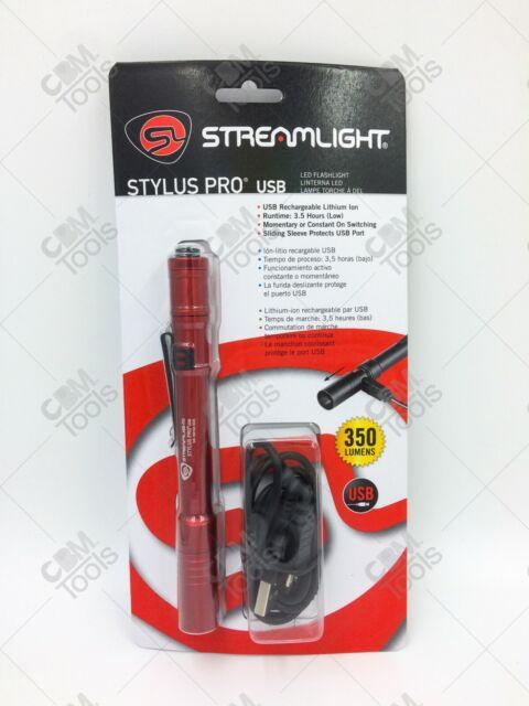 Red LED for sale online Streamlight Stylus St65006 Black BLISTER