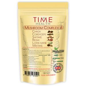 Mushroom Complex 6 Chaga - Cordyceps - Shiitake - Reishi - Lions mane - Maitake