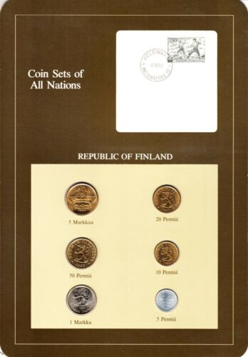 Finland Coin Sets of All Nations 6 BU Coins 1982