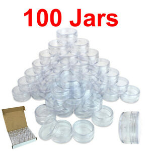 100-Packs-10-Gram-10ML-High-Quality-Cream-Cosmetic-Sample-Clear-Jar-Containers