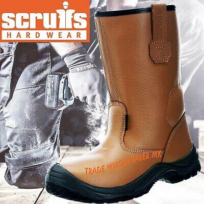 Mens Steel Toe Cap Scruffs Gravity Rigger Work Boots Tan Sizes 7-12 Black