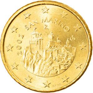 [#831250] San Marino, 50 Euro Cent, 2002, Rome, SPL, Laiton, KM:445