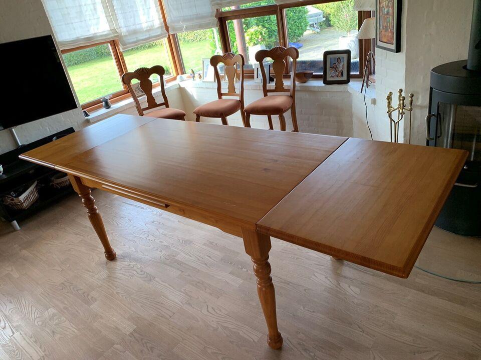 Spisebord m/stole, Træ, b: 90 l: 160