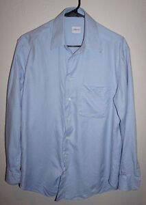 Armani-Collezioni-Men-039-s-Size-38-Large-15-R-Blue-Dress-Shirt-Great-Condition