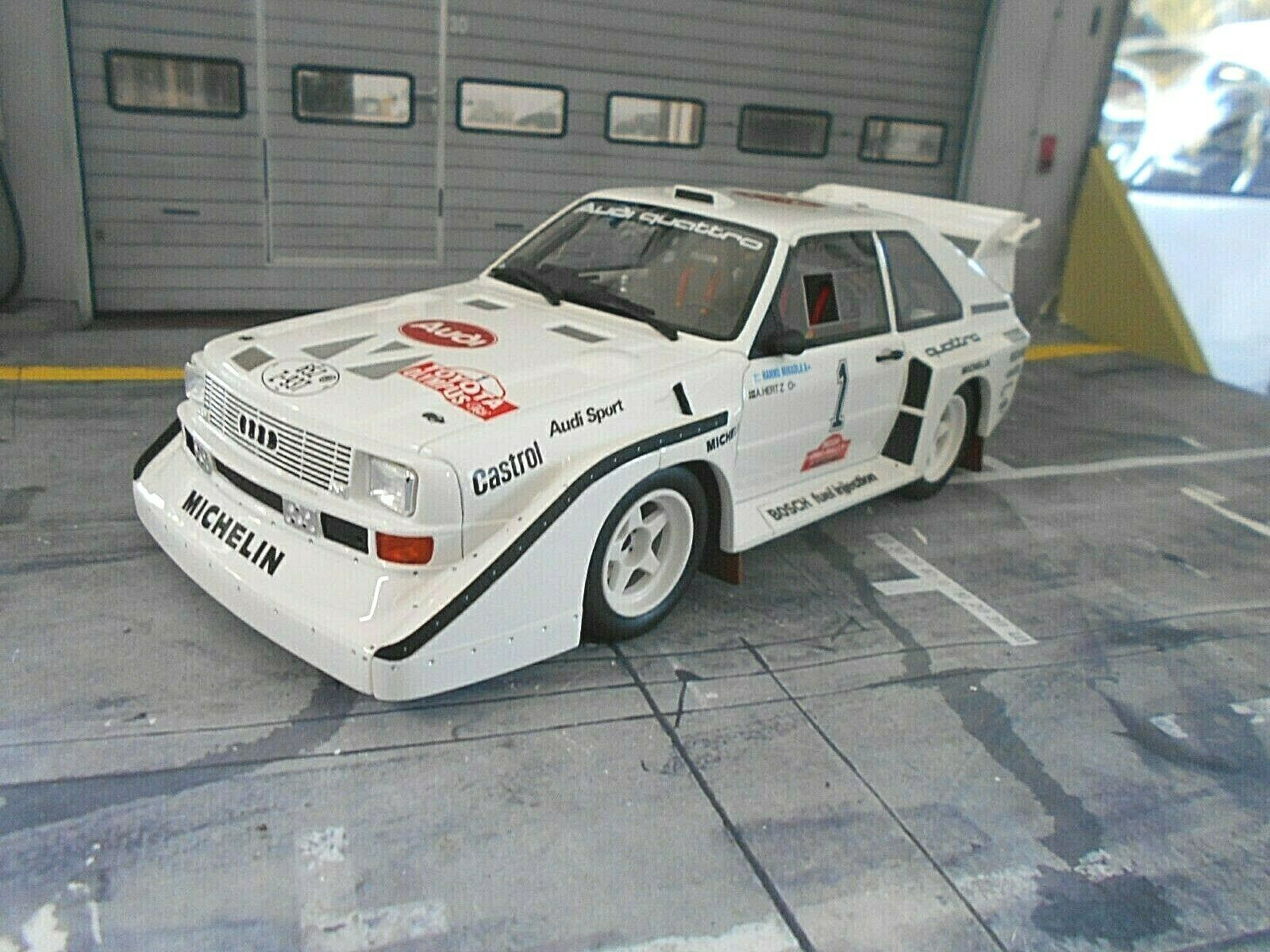 Audi Sport Quattro s1 Rallye e2 Olympus  Winner 1985  1 Mikkola nouveau Otto 1 18  marque célèbre