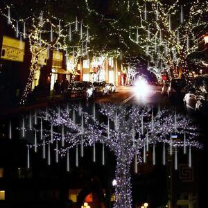 Lalapao Outdoor Christmas String Lights Solar Powered LED Meteor Shower Rain 763383457945 | eBay