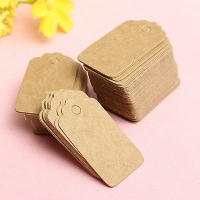 High-end Jewelry Price Label Tag Blank Kraft Paper With Elastic String 30mm 100