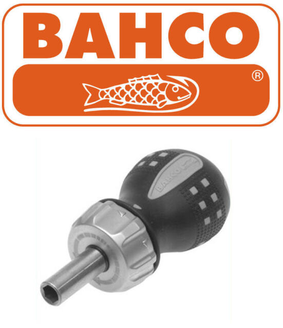 "BAHCO STUBBY Short 90mm Ratchet/Ratcheting Screwdriver 1/4"" Bit Holder 808050S"