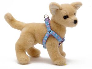 Douglas-Paquette-HEARTS-SKULLS-Nylon-amp-Ribbon-Adjustable-Dog-Toy-Harness