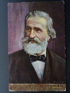 Musical Composer GIUSEPPE VERDI Artist Eichhorn Old Postcard by B.K.W.I. 874-11